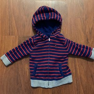 5/20 Tommy Hilfiger reversible zip up hoodie 6-9 m